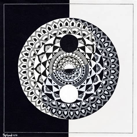 yin yang mandala by splund art on deviantart