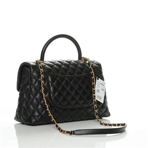coco handle medium size chanel caviar quilted medium coco handle flap black 186785