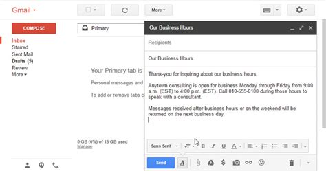 how to create email templates in gmail with canned