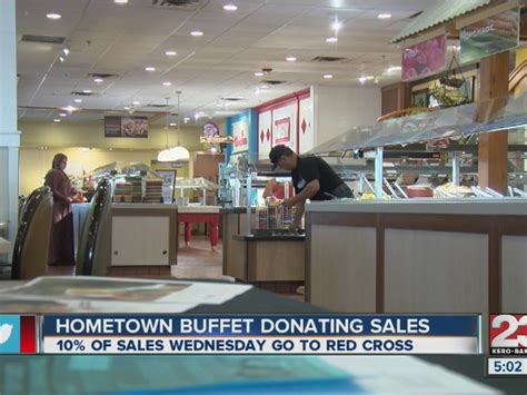 hometown buffet california locations donating portion of