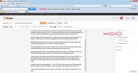 membuat blog berita cara membuat label di blog gudang berita baru