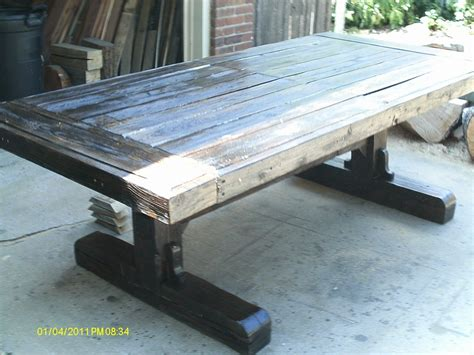 custom reclaimed barn wood dining table by j gubbins