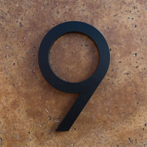 0007395205 number the stars essential modern modern house numbers in black