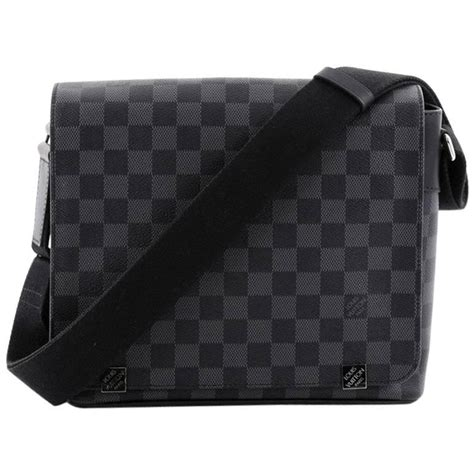 Tas Lv Monogram Reporter Mirror Quality Limited louis vuitton district nm messenger bag damier graphite pm at 1stdibs