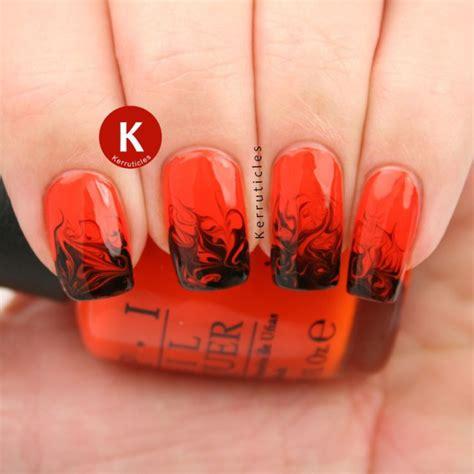 easy nail art orange and black 25 фото красно чёрный маникюр