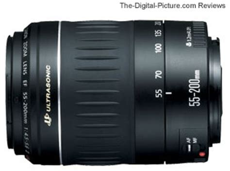 canon ef 55 200mm f/4.5 5.6 ii usm lens review
