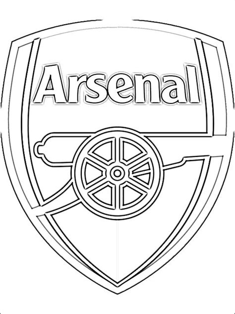 coloring page arsenal f c coloring pages