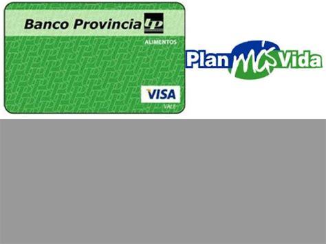 Consulta De Saldo De Tarjeta Verde Plan Mas Vida | consultar saldo tarjeta visa alimentos plan mas vida