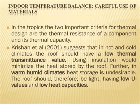 design criteria for warm and humid climate passive design strategies in composite warm humid climates