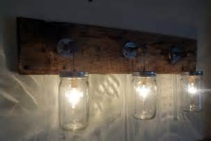 jar hanging light fixture rustic reclaimed barn wood
