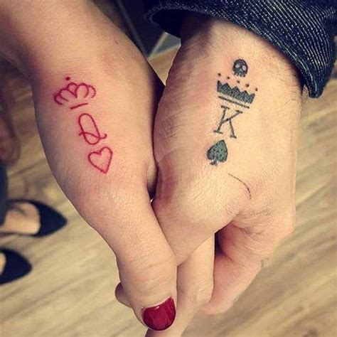 q tattoo on finger beautiful king and queen tattoos on hands for couple