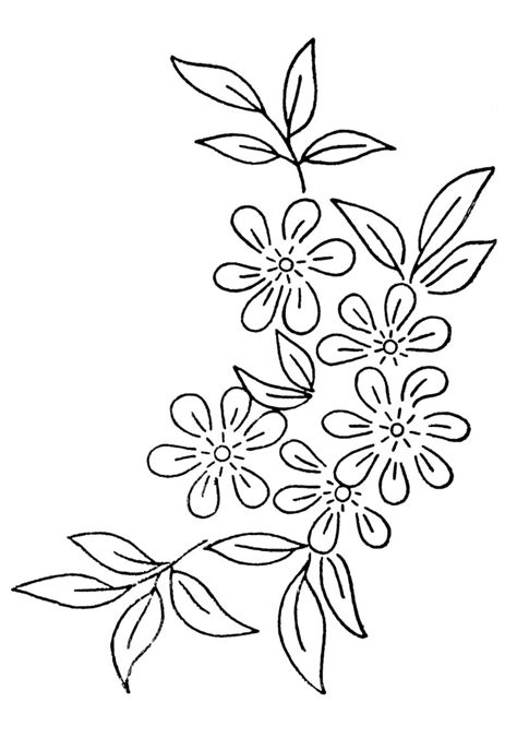 pattern for flower free embroidery transfer patterns vintage flowers