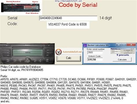 Mercedes Stereo Code by Radio Code Calculator Automobile Radio Decoder Free