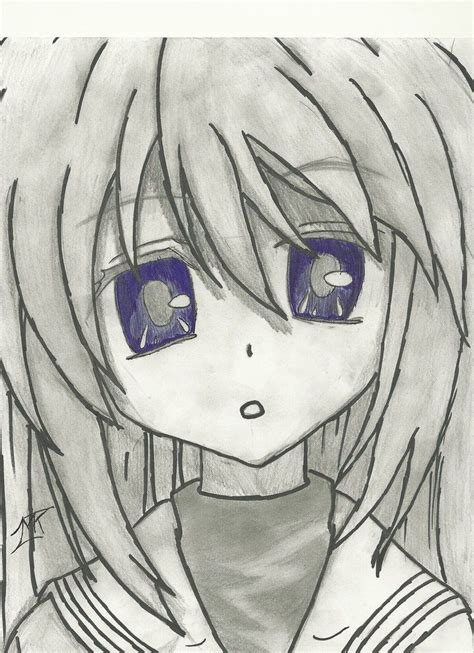 V Anime Drawing by Tomoyo Clannad Pencil And Pen Drawing By 717thartist On