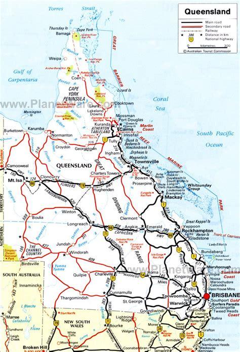 maps map queensland