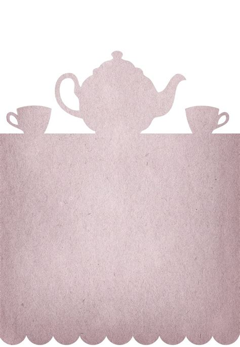 tea invitation template free printable tea invitation communication