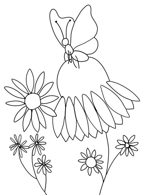 clipart flower coloring page 66 free color flower clip art