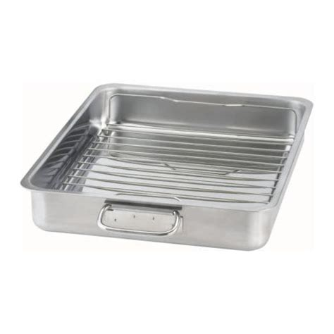 Ikea Koncis Loyang 26x20cm Stainless koncis roasting pan with grill rack ikea