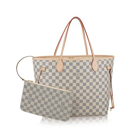 Are Louis Vuitton Bags Handmade - louis vuitton damier azur neverfull mm shoulder tote bag