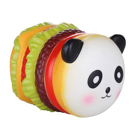 Soft And Slowrise Squishy Vlo Burger vlo squishy panda hamburger 10cm rising original packaging collection gift decor