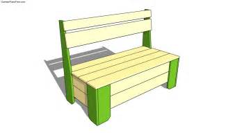 bench plans project working idea plans for garden bench with storage