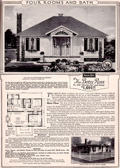 Woodland Homes Floor Plans by The Betsy Ross By Sears 1923 Sears Kit House Tiny