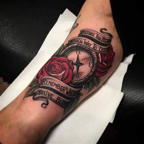 compass tattoo with quote compass meaning and designs ideas