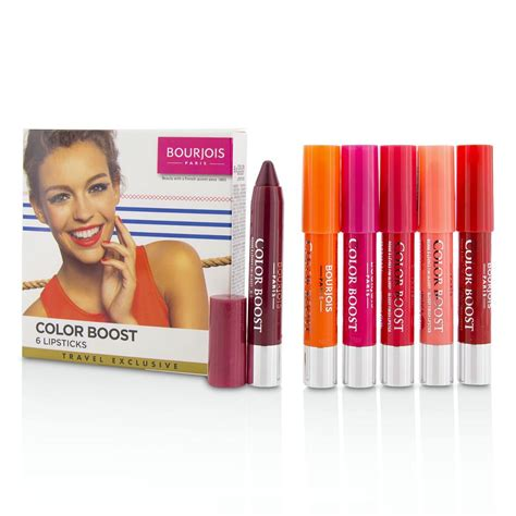 Bourjois Cocktail Cosmetic Sets by Colorboost Glossy Finish Lipstick Set By Bourjois