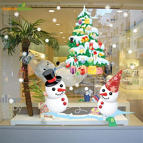 aliexpress com buy the new shop window snowman christmas
