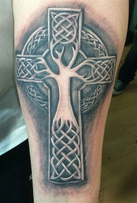 3d celtic cross tattoos 3d celtic cross tree tattoos for ideas and