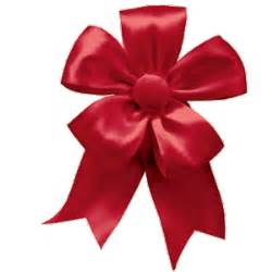 Caspari solid red christmas ribbon bow