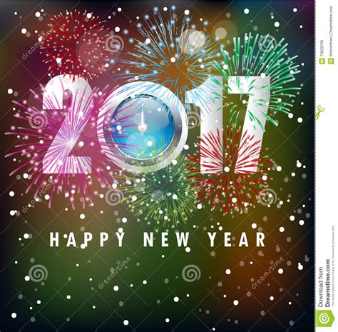 new year greeting happy new year greeting card 2017 stock illustration