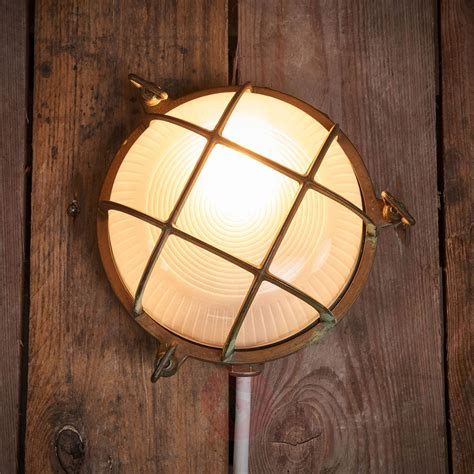 outdoor wall light bengt antique brass lights co uk