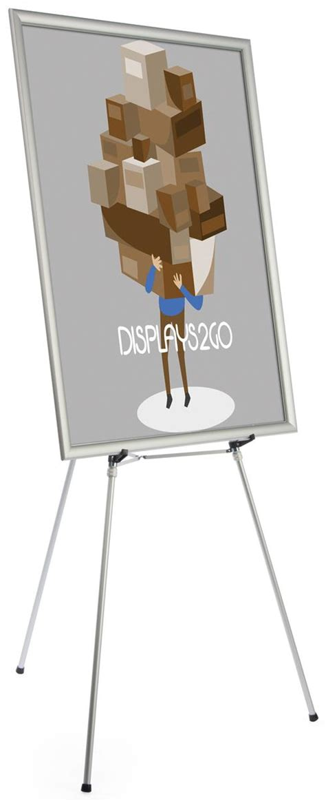 48 X 60 Poster Frame by Silver Easel Stand With 36 X 48 Snap Frame