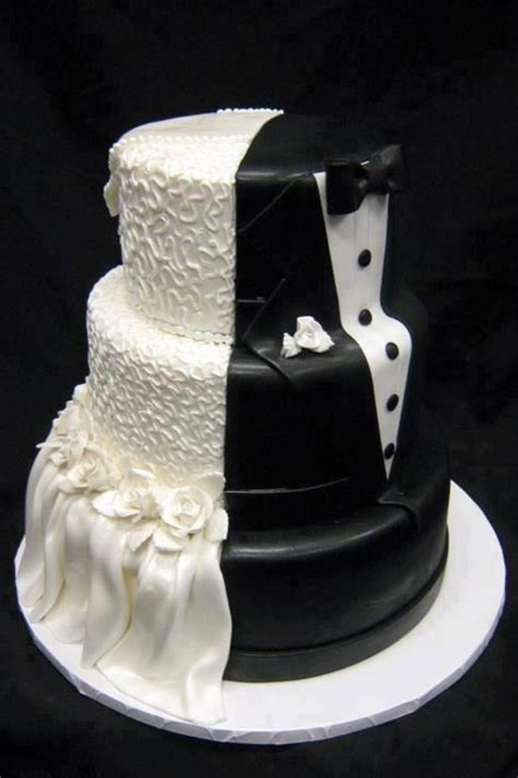 Black And White Wedding Cakes by Unique White And Black Wedding Cake Design Ipunya