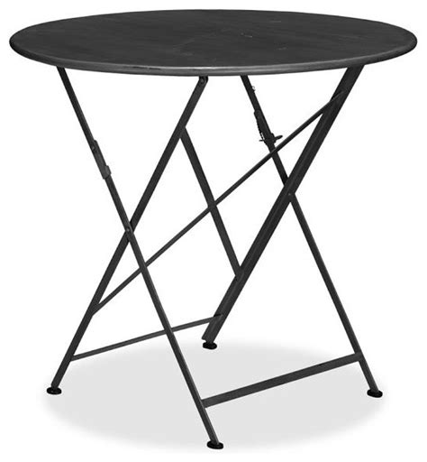 bistro folding accent table tavern folding bistro table black traditional