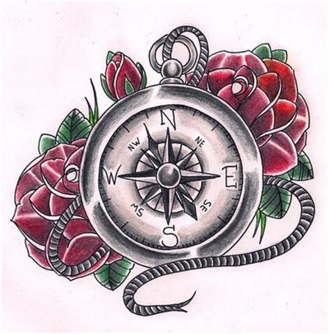 compas rose tattoo compas by kirzten on deviantart