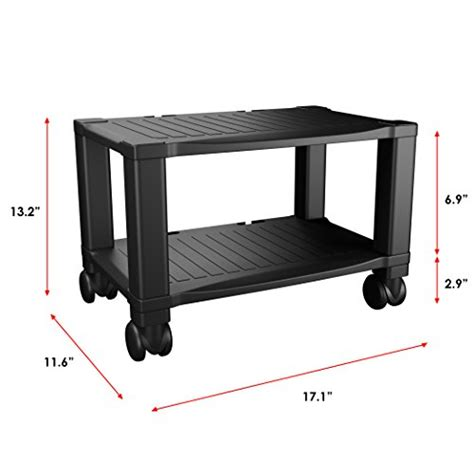 rolling printer cart under desk printer stand with wheels 2 tiers shelf small under