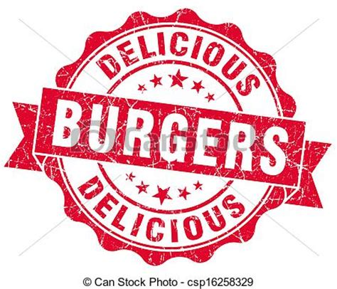 how to create an elegant red burger logo with aaa logo clip art of delicious burgers red grunge st csp16258329