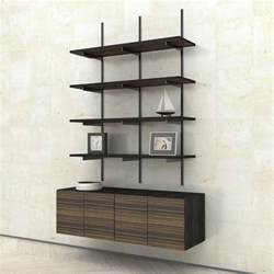 Wall Mount Bookshelves by Wall Mounted Shelves With 2 Door Cabinets Modern Shelving