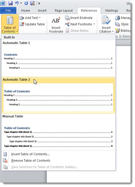 create a section in word create a master document in word 2010 from multiple documents