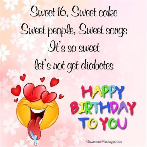 Sweet Happy Birthday Wishes For 16th Birthday Wishes Sweet Sixteen Birthday Messages
