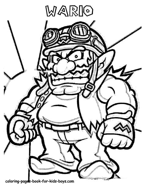 baby wario coloring pages free coloring pages of baby wario