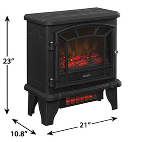 Duraflame Fireplace Heater Reviews by Duraflame 550 Black Infrared Freestanding Electric
