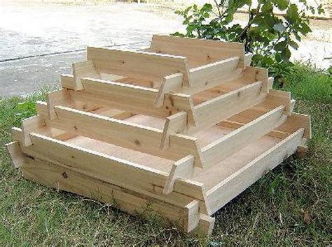 Wooden Pyramid Planter by How To Make A Slot Together Pyramid Planter