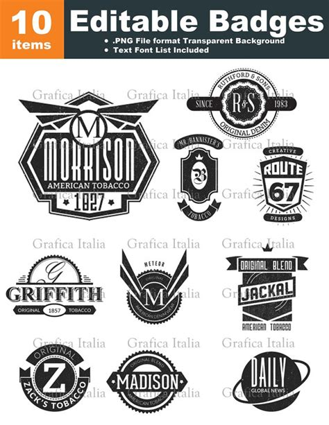 retro blank badge logo templates 10 graphic designs