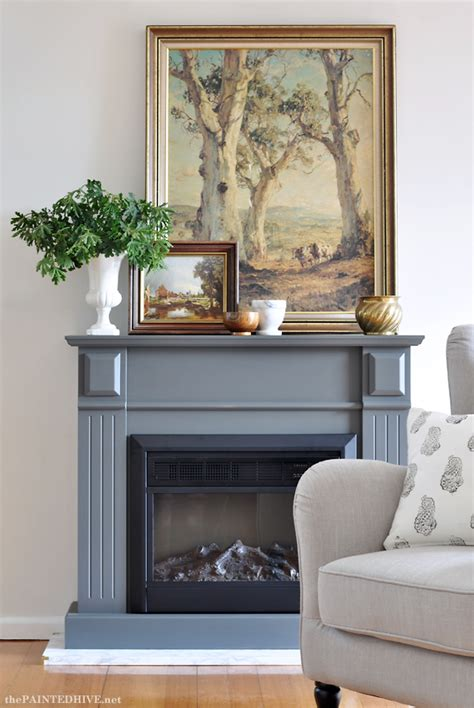 easy fireplace makeover the painted hive easy diy marble hearth and a
