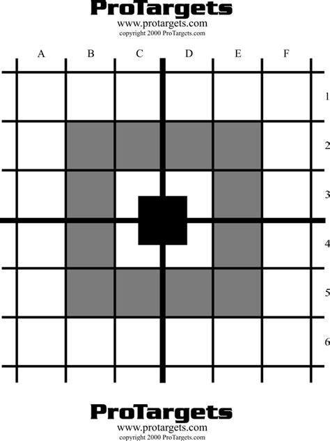 printable grid shooting targets index of targets grid