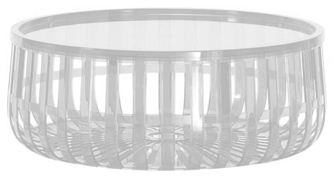 table basse panier coffre cristal kartell