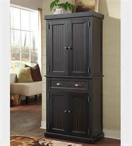 nantucket kitchen storage pantry cabinet in a distressed